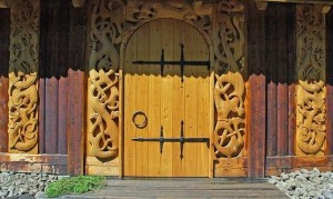 goats garden vicinity viking doors